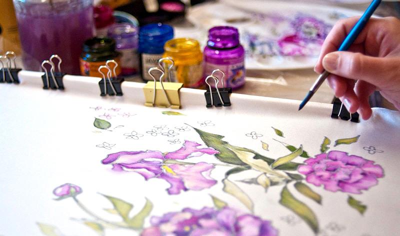На каких тканях рисуют батик